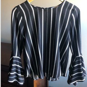 Blouse with cute bell sleeves
